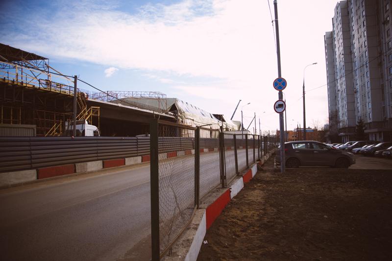 Строительство дублера Ленинградского шоссе на Зеленоградской улице