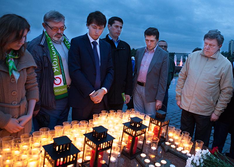 Акция «1418 свечей» на Поклонной горе