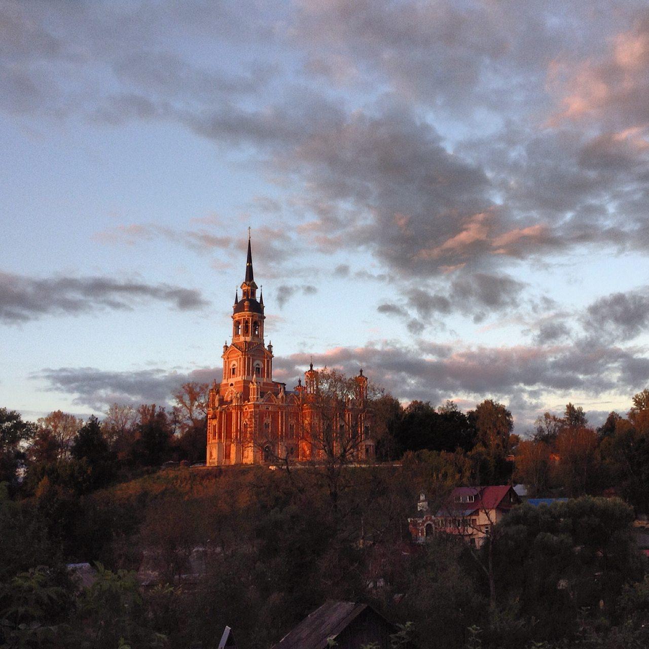 Закат в Можайске. Фото Павла Гнилорыбова
