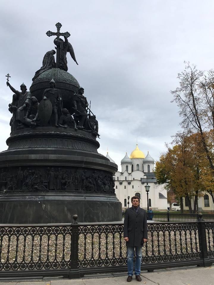 Великий Новгород. Сергей Григоров, Памятник «Тысячелетие России» и Софийский собор