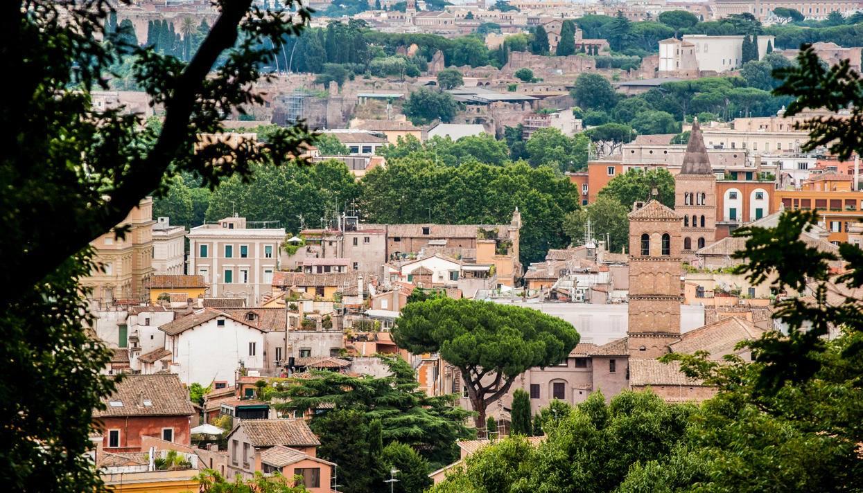 Вид на современный Рим