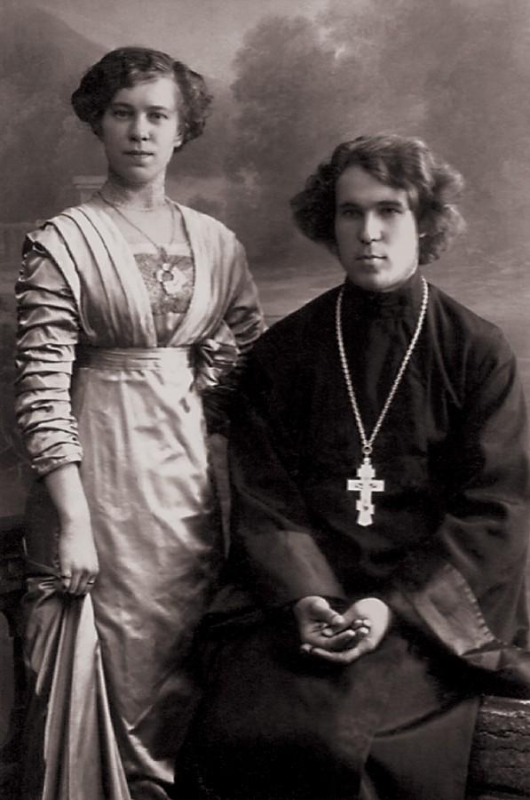 Иерей Александр Малиновский с женой Верой